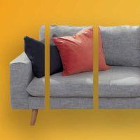 Sofa, das in gleich großen Raten bezahlt wird